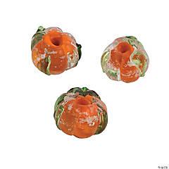 Glass Glow-in-the-Dark Orange Beads