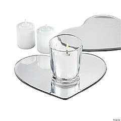Glass Heart-Shaped Table Mirrors