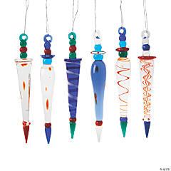 Glass Multicolored Ornaments