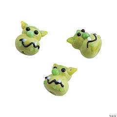 Glass Ogre Face Beads