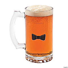 Glass Personalized Bow Tie Beer Mug