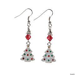 Glass Rhinestone Christmas Tree Earring Craft Kit