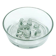 "Glass Slow Feed Bowl 8.25""X2.5""-Holds 2 Cups Dry Food"
