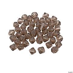 Glass Smokey Quartz Bicone Crystal Beads - 8mm