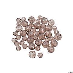 Glass Smokey Quartz Round Crystal Beads - 4mm & 6mm
