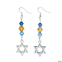 Glass Star of David Earrings Craft Kit