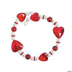 Glass Wire Heart Bracelet Craft Kit
