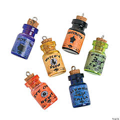 Glass Wizard Potion Charm Bottles