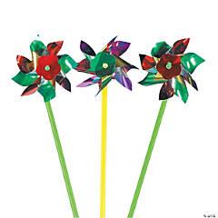 Glimmering Metallic Pinwheels