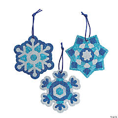 Glitter Art Snowflake Ornaments
