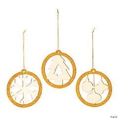 Glitter Circle Christmas Ornaments