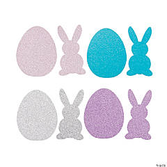 Glitter Easter Shapes