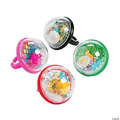 Glitter Globe Rings