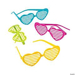 Glitter Heart Shutter Sunglasses