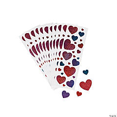 Glitter Heart Stickers