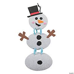 Glitter Linked Snowman Sign Craft Kit