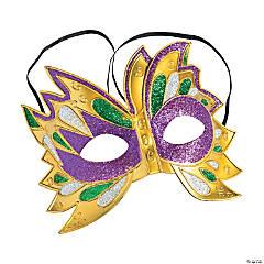 Glitter Mardi Gras Masks
