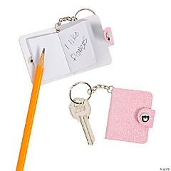 Glitter Mini Notebook Keychains