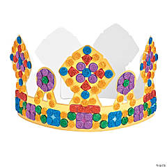 Glitter Mosaic Crown Craft Kit