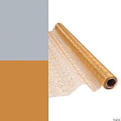 Glitter Paisley Fabric Roll