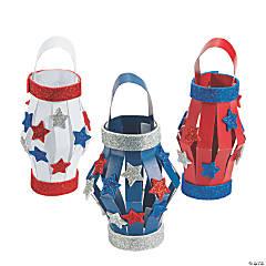 Glitter Patriotic Lantern Craft Kit