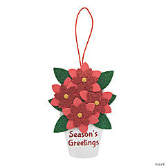 Glitter Poinsettia Sign Craft Kit