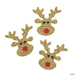 Glitter Reindeer Embellishments
