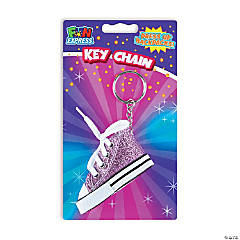 Glitter Shoe Keychains