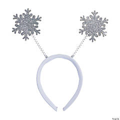 Glitter Snowflake Head Boppers