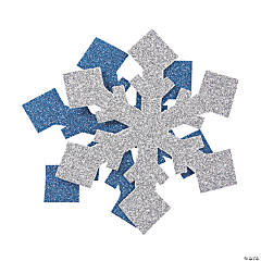 Glitter Snowflake Shapes