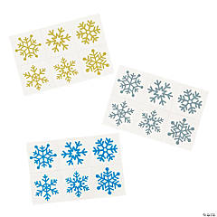 Glitter Snowflake Temporary Tattoos