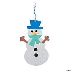 Glitter Snowman Shape Craft Kit