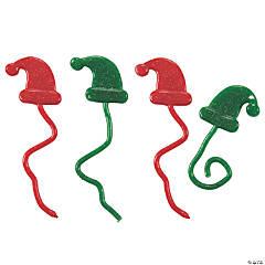 Glitter Sticky Santa Hats