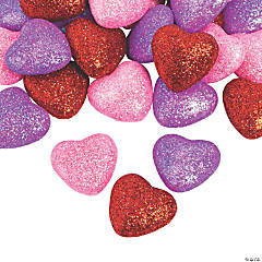 Glitter Valentine Foam Hearts