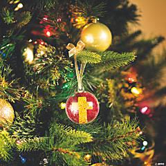 Glittered Cross Ornament Idea