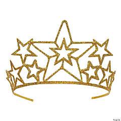 Glittered Metal Star Tiara