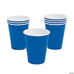 Glossy Dark Blue Paper Cups