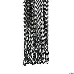 Glossy Finish Black Beaded Necklace