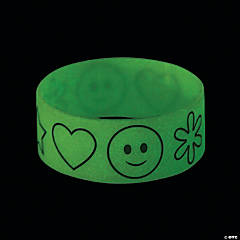Glow-in-the Dark Big Band Rubber Bracelets