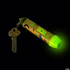 Glow-in-the-Dark Bug Flashlight Keychains