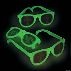 Glow-in-the-Dark Christian Pumpkin Pinhole Glasses