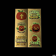 Glow-in-the-Dark Christian Pumpkin Temporary Tattoos