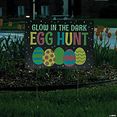 Glow-In-The-Dark Easter Egg Hunt Yard Sign