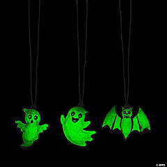 Glow-in-the-Dark Halloween Characters Necklaces