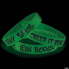 Glow-in-the-Dark Halloween Rubber Bracelets