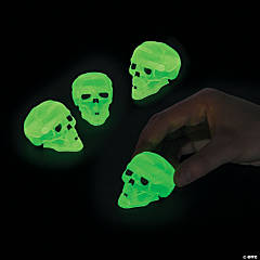 Glow-in-the-Dark Halloween Skull Pull-Back Toys