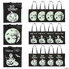 Glow-in-the-Dark Halloween Tote Bags
