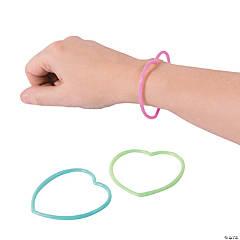 Glow-in-the-Dark Heart Bracelets