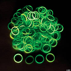Glow-in-the-Dark Rubber Fun Loop Assortment Kit