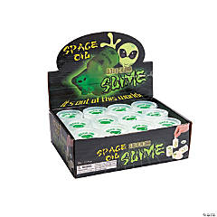 Glow-in-the-Dark Space Oil Slime in Containers